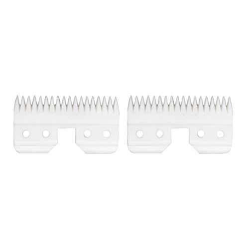 AIRERA Cuchilla móvil de cerámica de 18 dientes de repuesto de 1 Piezas para Fast Feed, Cortadores de cerámica de repuesto para mascotas/humanos, compatible con Cortadoras AG/A5 (2 Piezas, Blanco)