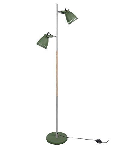 Leitmotiv Mingle Stehlampe Wood Ø 12 cm - Höhe 152 cm Green/Wood