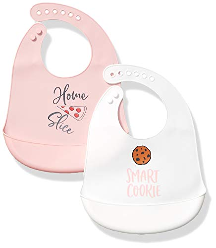 Hudson Baby Unisex Baby Silicone Bibs, Home Slice, One Size