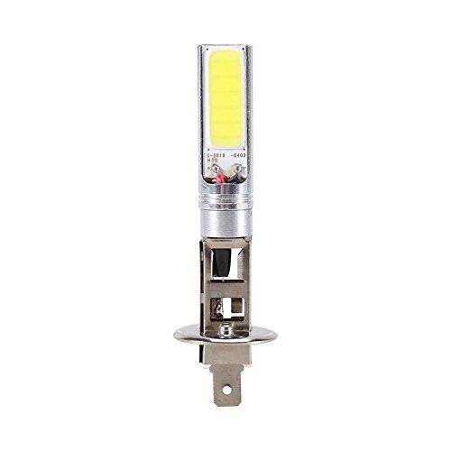 Ampoule de Brouillard, Keenso H1 7.5W Ampoule de Phare Antibrouillard au Xénon LED 12V 6000K Blanc Feux de Tache de Brouillard COB Feux de Conduite