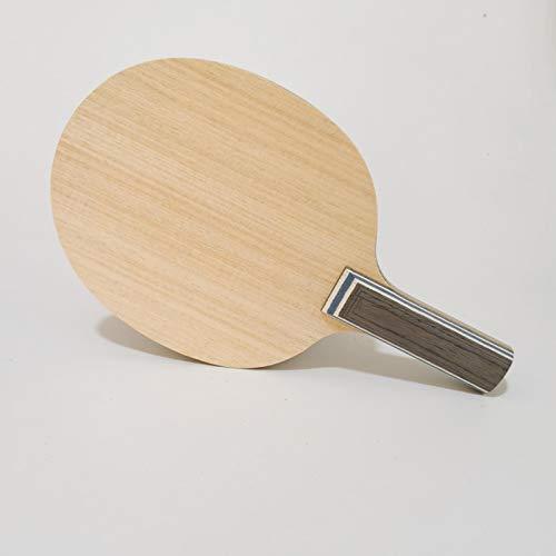 allforyou Cuchilla de la Raqueta de Tenis de la Mesa de la Mesa de Carbono Profesional 5 Capas de Madera Pura y 2 Capas arilate Carbono viscaria FL Ping Ping balde