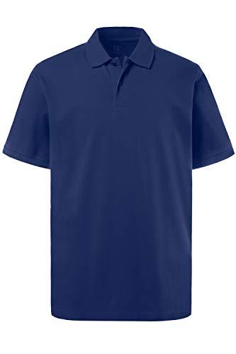 JP 1880 Herren, Poloshirt , Halbarm, Unifarben, Farbe: Kobalt, Gr. XL