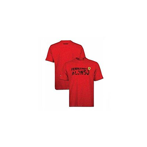 FERRARI Camiseta Hombre Fernando Alonso Nombre Rojo Talla XXL