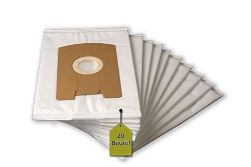 eVendix 20 Staubsaugerbeutel, Staubbeutel, Filtertüten passend für Vorwerk Tiger VT 260, VT 265, VT 270, VT 300, ähnlich FP 260, kompatibel mit Swirl V66