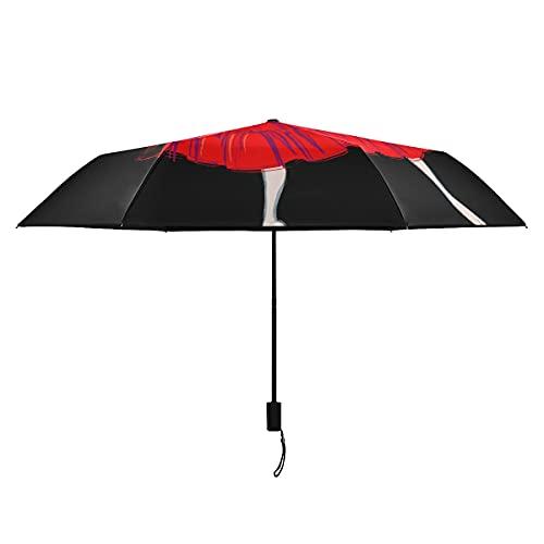 Paraguas de mujer elegante bailarina para niñas paraguas divertidos para niños portátil ligero a prueba de viento paraguas niños sol lluvia perfecta plegable niños paraguas invertido niña