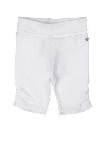Steiff - Leggings 6432306 - Leggings Bébé fille - Blanc (bright white|white) - FR : 2 mois (Taille fabricant : 56)
