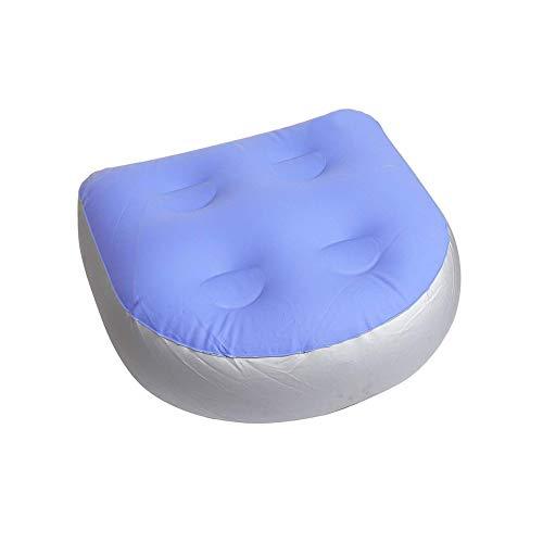 Asiento Elevador Universal para SPA y bañera de hidromasaje con ventosas, Esterilla de Masaje Inflable e Impermeable para bañera, colchoneta de Masaje de Espalda con cojín para SPA