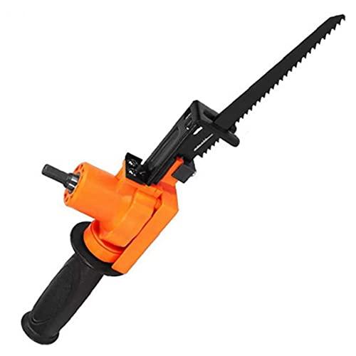 Eléctrica sierra de vaivén eléctrica motosierra alternativa Taladro para Madera Metal rebanar Herramienta de naranja, Cut