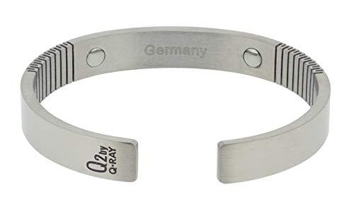 QRAY Germanium Stone Titanium Golf Athletic Bracelet (Large: 7.75