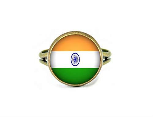 Xubu Nationale Symbool Vlag Sieraden, Indische Vlag Ringen, Nationale Vlag Ringen