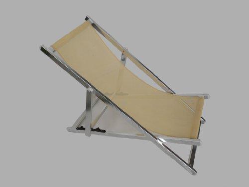 Maffei Art 1320 Playa. Chilienne Aluminium, reclinable 3 Positions, Tissu Textilene. Couleur Ecru