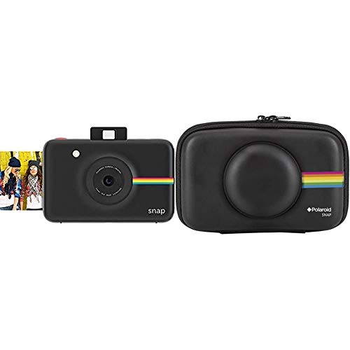 Polaroid Snap - Cámara Digital instantánea, tecnología de impresión Zink Zero Ink, 10 MP, Bluetooth + PLSNAPEVAB - Funda (Funda, Polaroid, Polaroid Snap Instant Print Digital Camera, Negro)