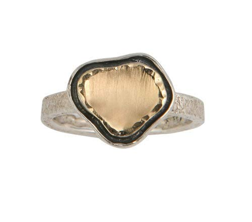 Statement Contemporary Two Tone Solid Sterling Gold Si Excellent High quality Yellow 9k