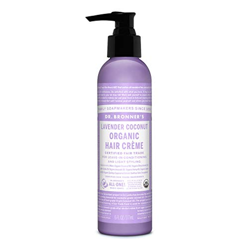 Dr. Bronner's - Organic Hair Crème (Lavender Coconut, 6 Ounce) - Leave-In Conditioner and...