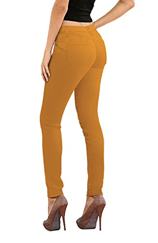 Women's Butt Lift Stretch Denim Jeans P37382SK Mustard 11