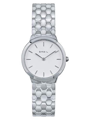 Breil - Reloj de mujer BLUNT con esfera monocromática, movimiento solo hora, 2 horas, cuarzo y pulsera de acero TW1900