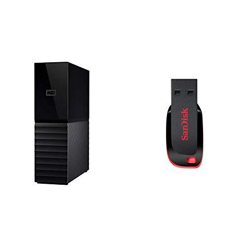 WD 8TB My Book Desktop External Hard Drive, USB 3.0 - WDBBGB0080HBK-NESN and Cruzer Blade 64GB USB 2.0 Flash Drive