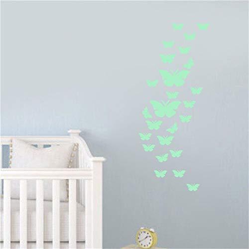 TYOLOMZ Schmetterling Nachtlicht Wandaufkleber Kinderzimmer Dekoration Dekorative Leuchttattoos Tapete Für Zuhause Decpration