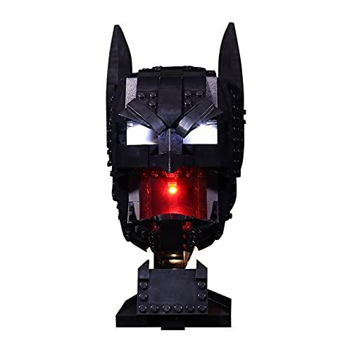 GOOCO LED para Casco Lego, Iluminación LED Compatible con Casco de Batman Lego 76182 (Solo Incluye LED, no Modelo Lego)