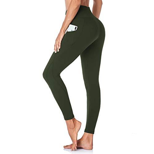 GAYHAY High Waist Yoga Pants with Pockets for Women - Tummy Control Workout Running 4 Way Stretch Capri Yoga Leggings