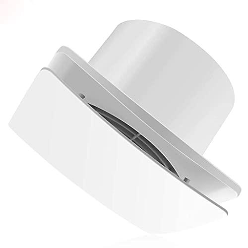 QZH Ventilador de Pedestal, Extractor de Aire Circular, Flujo de Aire silencioso, Duradero, fácil de Instalar, Ventana de Pared Blanca de bajo Ruido