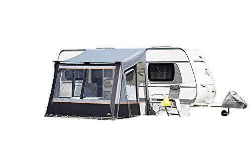 dwt Teilzelt Fortuna II 250 x 280 cm grau Reisezelt Outdoor Camping Wohnwagenvorzelt Caravan Sonnenschutz Vorzelt