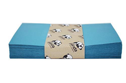 50 blaue recycelte Briefumschläge - DIN C6-114 x 162 mm - Kuverts mit Nassklebung ohne Fenster für Grußkarten & Einladungen
