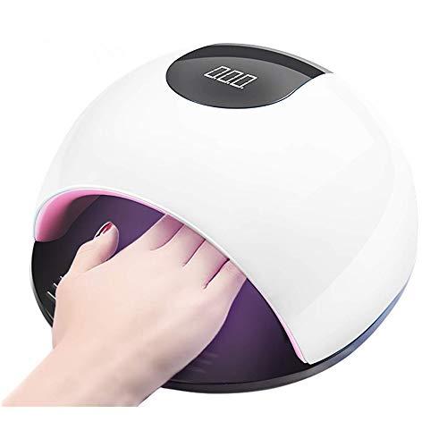 LED UV Lampe für Nägel, 72W LED-Nageltrockner mit UV Nagellampe für Shellac und Gelnagellack Lichthärtegerät mit Zeitmesser Sensor - Weiß