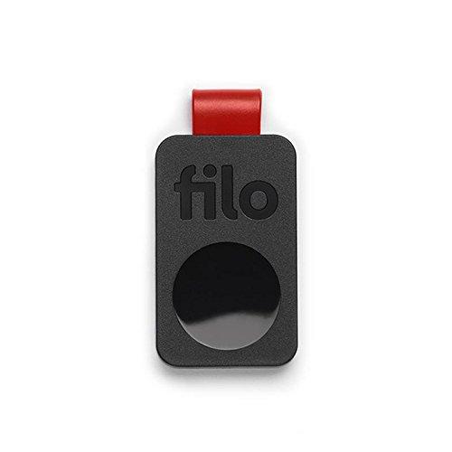 FiloTag Keyfinder | Localizzatore di Oggetti tramite App. Tracker Bluetooth | Ritrova gli Oggetti che Hai Perso | Misure: 25x41x5mm | Pack da 1, Colore Nero