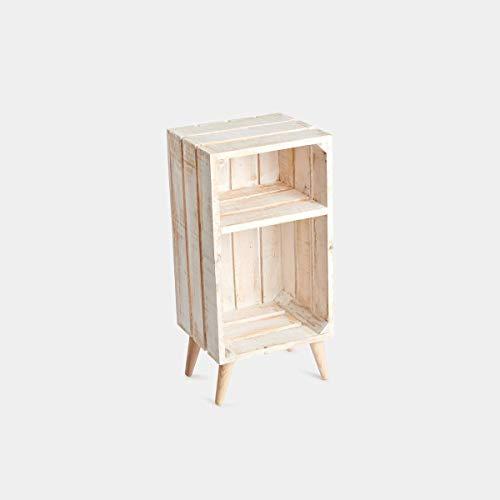 Rebajas oferta Mesita de noche, caja, cajón de fruta de madera de ...