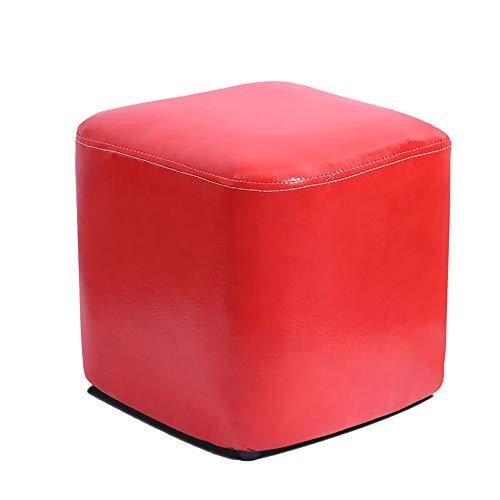Puff Otomano Reposapiés,Color Sólido Silla De Piso Cómodo Descanso De Pies Pufffe para Sala De Estar Dormitorio Habitación De Los Niños-G 30x30x30cm(11.8 * 11.8 * 11.8inch)