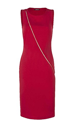 APART Damen-Kleid Etuikleid mit Reißverschluß Rot Größe 38