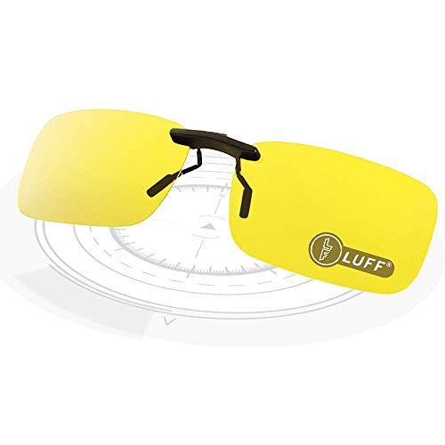 LUFF Clip polarisé unisexe sur des lunettes de soleil pour les lunettes de prescription-Good Lunettes de soleil clip pour lunettes de myopie extérieure/conduite/pêche (Night vision clip)