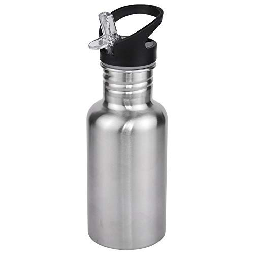 Alpha Eco 500 ml Sipper Water Bottle (Pack of 1 Steel/Chrome)