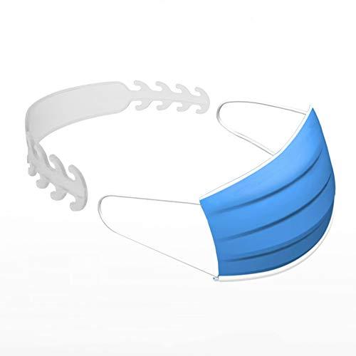 REHON 10 STK. Maskenriemenverlängerer (ohne Maske), Eng Anliegender Gürtel Mit Maskenschnalle, Anzug Zum Tragen Der Maske,Transparent