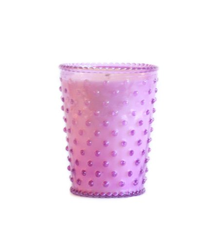 K. Hall Designs No-41 Lilac Hobnail Glass Candle, 16-Ounce