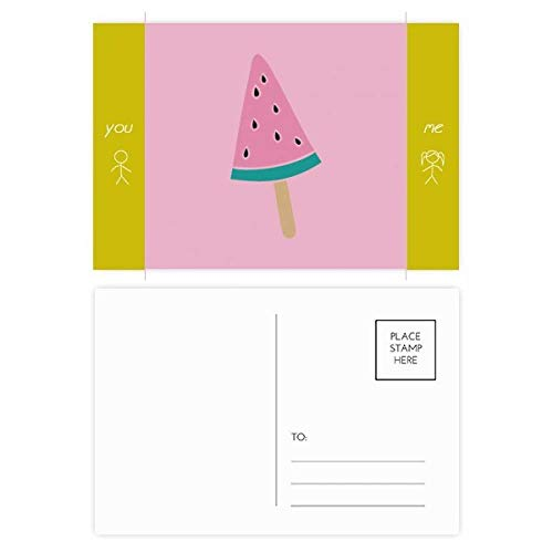 DIYthinker Wassermelone-rosa Bonbon Ice Cream Popsicle Freund Postkartenset dankt Karte Mailing Side 20pcs 5.7 Zoll x 3.8 Zoll Mehrfarbig
