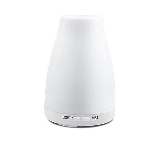 Aromathérapie Diffuseur D'huile Essentielle Cool Mist Humidificateur Ultrasons LED Lumière Couleurs Changeantes Parfait pour La Maison, Bureau, Salon, Spa, Voiture