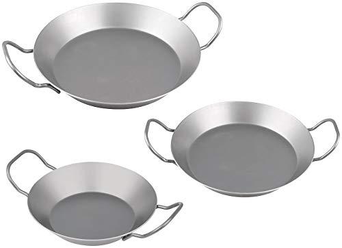 CHG Eisenpfannen Spar-Set, 3-TLG, Silber, 3-Einheiten