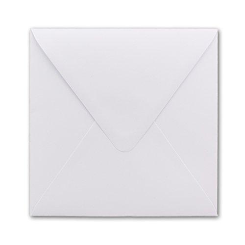 Lot d'enveloppes carrées avec patte autocollante Blanc pur 150 x 150 mm. Lot de 50 Nassklebung