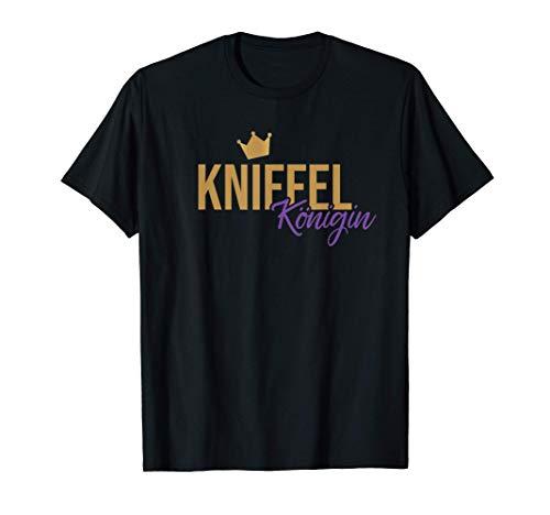 Kniffel Königin I Kniffeln Würfelbecher I Würfel Spieleabend T-Shirt