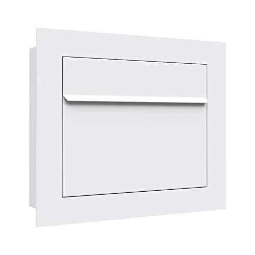 Unterputz-Briefkasten, Design Einbaubriefkasten Sora Weiss - Bravios
