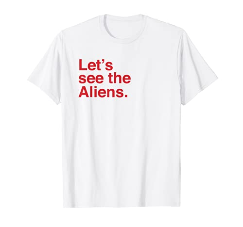 Let's See The Aliens Declassified Vintage Modern Style Camiseta