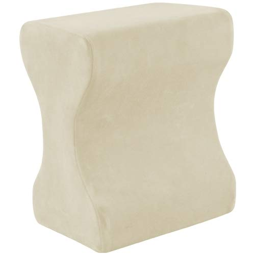 Memory Foam Knee Pillow, Perfect for Expecting Mothers or Side Sleepers with Nerve Pain, Joint Pain and Back Pain, Made by Contour Products