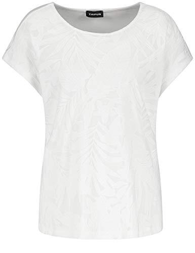 Damen T-SHIRT mit Ausbrenner-Optik Off-White, Größe:44, Farbe:99700 OFF-WHITE