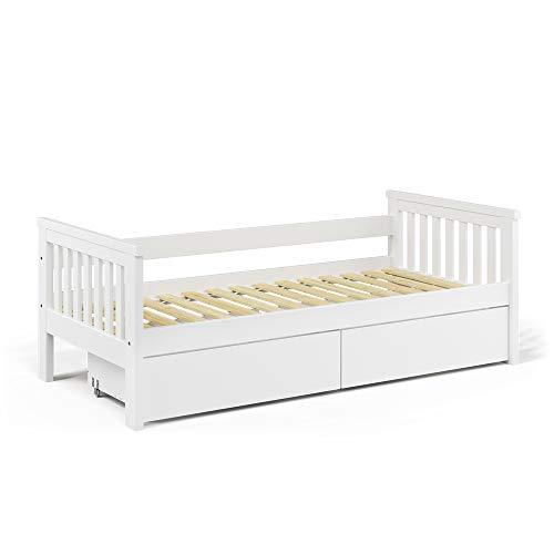 VitaliSpa Tagesbett Luna Kinderbett 90x200cm Kojenbett Jugendbett Bettgestell (Bett + Schubladen)