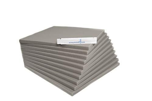Schaumstoff Platten Set 10 Stück a 45 x 45 x 2 cm sehr feste und langlebige Qualität ( RG40 SH60 )