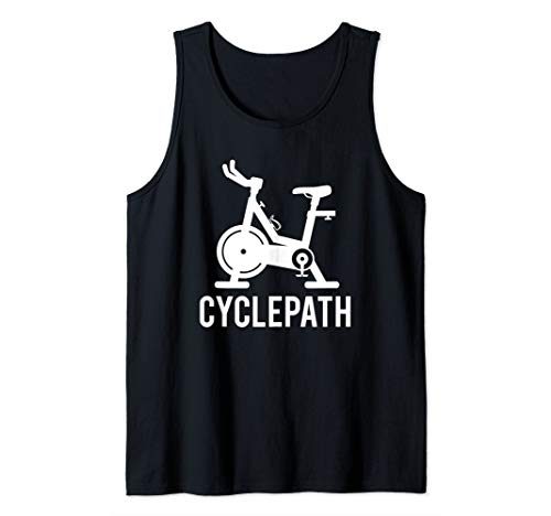 Cyclepath Love Spin Funny Workout Pun Gym Spinning Class Tank Top