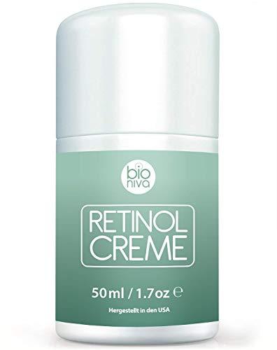 Retinol Lift Creme Testsieger 2019-2.5% Retinol Liposomen Liefersystem mit Vitamin C + B & Botanische Hyaluronsäure. Natürliche Anti Aging Retinol Feuchtigkeitscreme von Bioniva 50ml