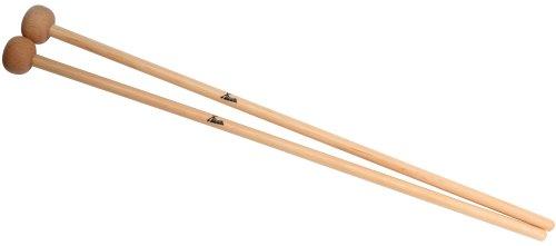XDrum MG4 - Bacchette per glockenspiel e percussioni, in legno di rovere, 38 cm di lunghezza, 2,6 cm di diametro (testa), 2 pz